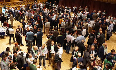 Warm welcome: the reception at the 2016 event in Edinburgh,