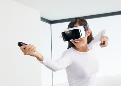VR system: Zeiss's VR One Connect.