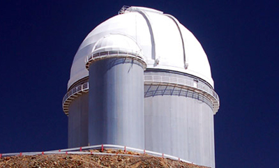 ESO 3.6m telescope at the La Silla Observatory in Chile.
