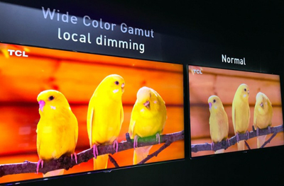 The difference in color quality created by Wide Color Gamut for HDR standards.