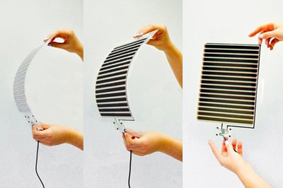 Printed, flexible, perovskite photovoltaics developed by Saule Technologies.
