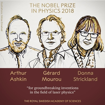 2018 physics Nobel laureates: Ashkin, Mourou, and Strickland
