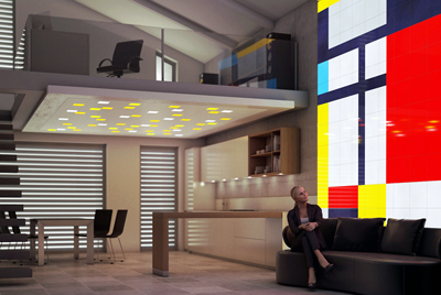 ...or feeling in a Mondrian mood? The LUMENTILEs can reflect that.