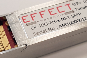 Effetct's narrow-band tunable DWDM optical transceiver.
