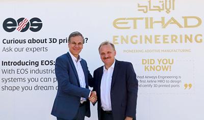 Dealmakers: EOS's Markus Glasser and Etihad's Bernhard Randerath.