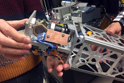 The new laser-pointing platform for CubeSat applications, developed at MIT.