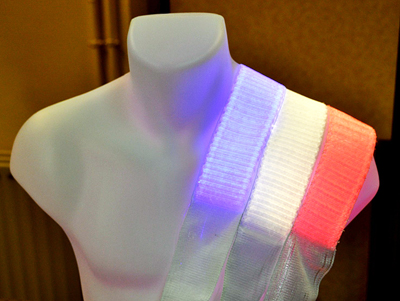 Knitted laser fabric can treat skin diseases.