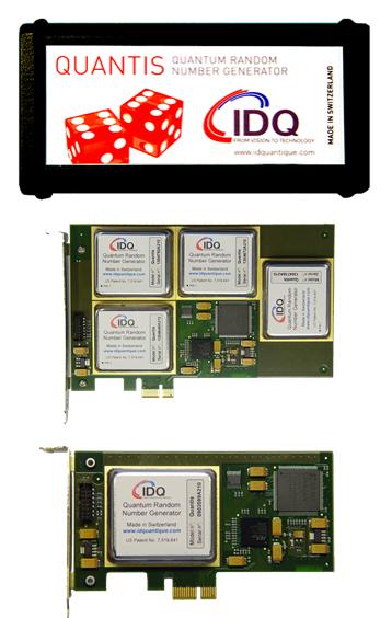 IDQ's Quantis Random Number Generator.