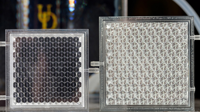 Glass act: Keith Goossen is designing new prototypes of smart glass panels.