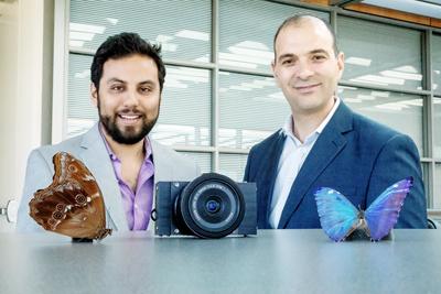 Cameramen: Postdoctoral researcher Missael Garcia and Professor Viktor Gruev.