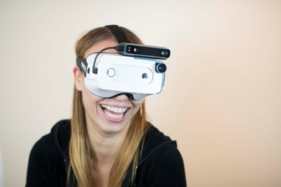 Mixed-reality headset
