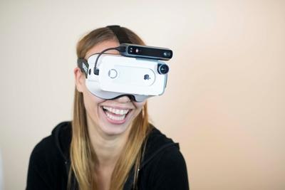 Mixed-reality headset