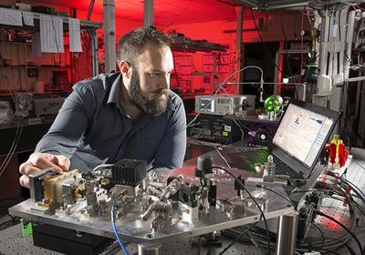 STFC's Nart Dagistani developed the original laser spectroscopy system.