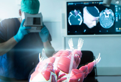 Enables viewing of inner body segments, including organs, tumors and veins.