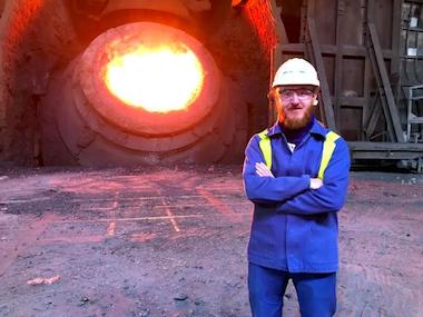 Szymon Kubal at Tata Steel Port Talbot