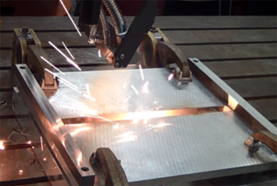 Quick and safe joining of steel and aluminum using remote laser welding.