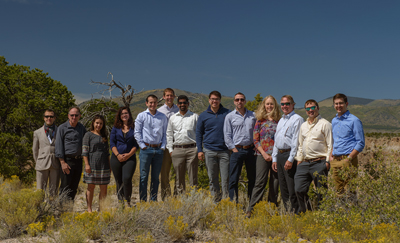 Desert blooms: The UBiQD team.