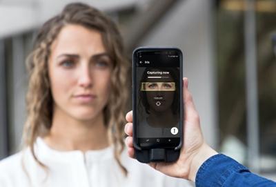 Smart phone iris scans