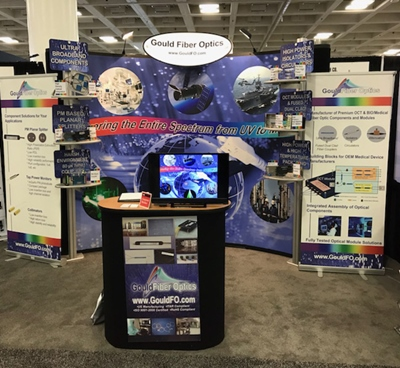 Gould Fiber Optics trade show stand